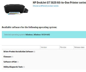 123 HP DeskJet 5820 printer driver download